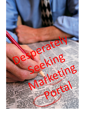 desperately seeking marketing portal